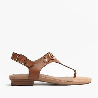 Earth Spirit Mendy Ladies Leather Toe Post Sandals Saddle
