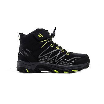 Hi-Tec Blackout Mid Junior Kids Outdoor Waterproof Walking Hiking Boot Noir