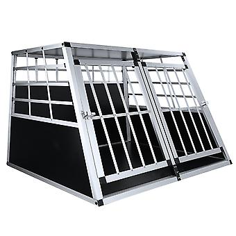 Metal Double Door Big Dog Cage Doghouse accidentat