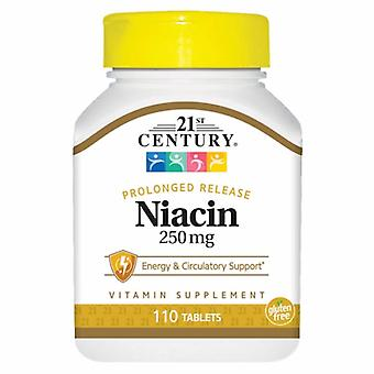 21st Century Niacin, 250mg, 110 Faner