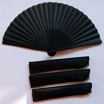 Kiinalaistyylinen musta vintage käsi tuuletin
