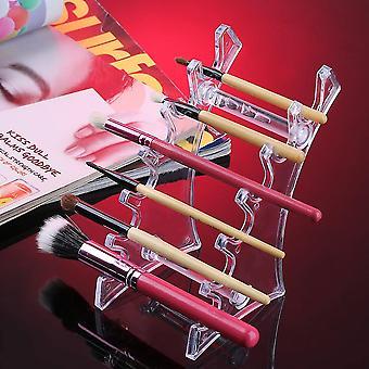 6 szczelin pionowo umieścić pędzle kosmatyczne Pen Biżuteria Wyświetlacz Uchwyt Rack