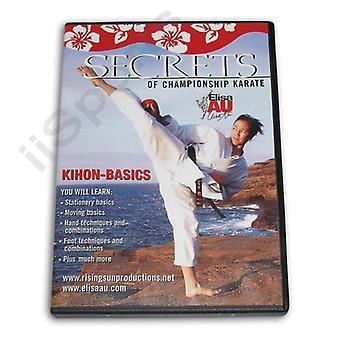 Secrets Championship Karaté Kihon Basics Dvd Au -Vd6781A