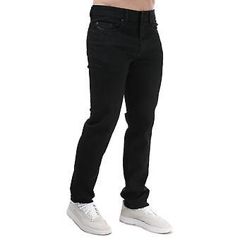 Herren Diesel Buster Regular Slim-Tapered Jeans in Schwarz