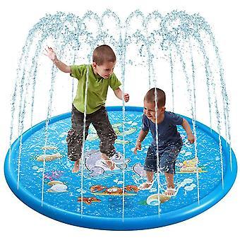 Splash Pad 170cm Wasser Spielmatte Splash Play Matte/ Sommer Garten Outdoor Spielzeug Kinder Baby