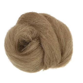 100% ren ny ull for nål filting, 50g - beige