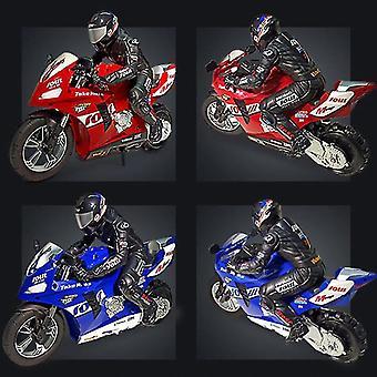 1:6 RC Fjernkontroll biler selvbalansert stunt leketøy bil elektrisk motorsykkel for gutt gave (blå)