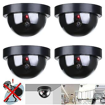 Dummy Fake Security Camera CCTV Dome Camera Indoor Outdoor With Flashing LED