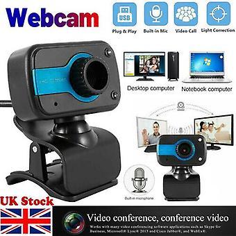 Full HD -verkkokamera mikrofonilla HD VideoKamera USB PC:lle Pöytätietokone Mic Uk