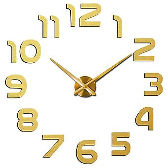 Wall clock  modern design large   mirror stickers living room home decor