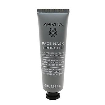 Black Face Mask With Propolis - Purifying & Oil-balancing - 50ml/1.69oz