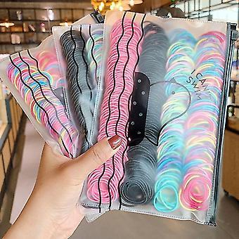 Hästsvanshållare flickor söta färgglada grundläggande elastiska hårband hästsvanshållare gummiaccessoarer sm154941