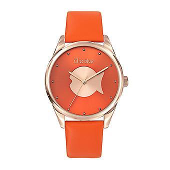 Women's Watch Clio Blue Watches 6601001 - Orange Leather