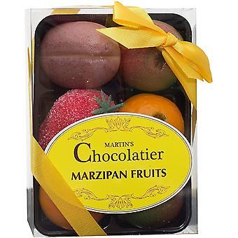Martin's Chocolatier Marzipan Fruits and Reindeer Socks   Christmas Stocking Filler   Secret Santa Gift   Handmade Marzipan Sweets in Fruit Shapes