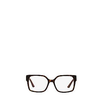Prada PR 10WV occhiali da vista donna avana scuro