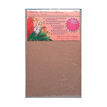 "Penn Plax Calcium Plus Gravel Paper for Caged Birds - 9.5"" x 15"" - 7 Pack"