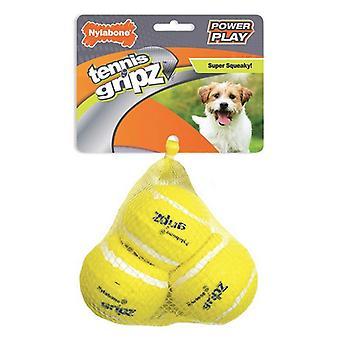 Nylabone Power Play Gripz Tennispallo Pieni - 3 lasku