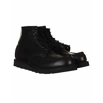 """Red Wing 8137 Heritage Work 6"""" Moc Toe Boot - All Black Skagway"""