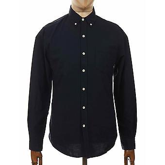 Colorful Standard Organic Button Down Shirt - Navy Blue