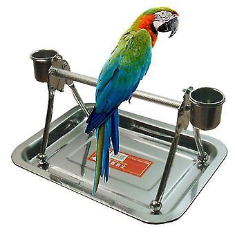 Игрушки для птиц нержавеющая сталь для домашних животных птицы стенд с игровой игрушкой для средних крупных птиц попугаев кур ара| птицы игрушки
