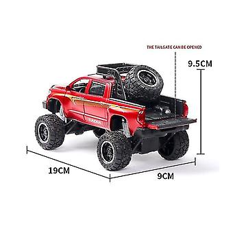 Toy cars 1:32 tundra car model alloy car die cast toy car model pull back children's toy collectibles red
