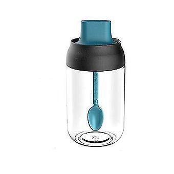 Frascos de especias y condimentos de vidrio de 250 Ml (Azul)