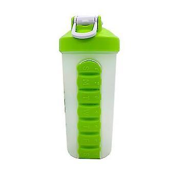 Outdoor Portable Pill Cup Shaking Cup 700ML Sport Wasserbecher mit Edelstahl Kugel (23 * 8,5 *