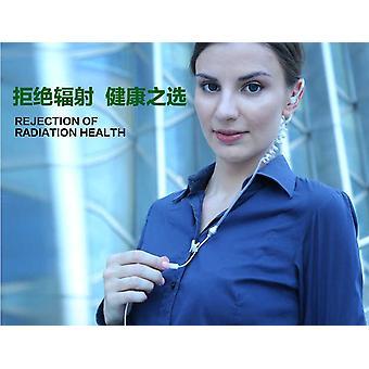 المهنية الهواء أنبوب 3.5mm مكافحة الإشعاع سماعة الرأس الهاتف المحمول