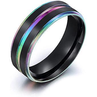 Mode Lassa Galvaniserende Kleur Double Layer Ringen Groove Heren Ring Sa1017
