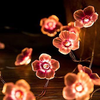 Sakura LED Lichter, Kirschblüte Kette, Girlanden Blumenlichter, rosa Kirsche Licht Girlande für Party, Hochzeit (2m)