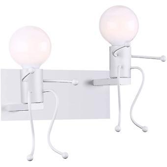 Creative Retro Lampa ścienna Wnętrze Vintage Lampa ścienna Przemysłowa Lampa ścienna Iron Iron Art Deco E27 Podstawa, biały X 2