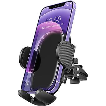Car Phone Holder, Mobile Phone Holder For Car, Car Phone Mount Vent With Stable Clip And Dual Release Button Compatible With Iphone 12 11/pro Max/pro/