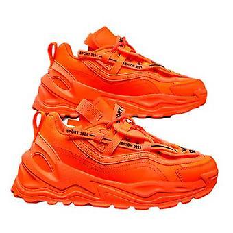 أحذية رجالية جديدة قابلة للتنفس أحذية رياضية عارضة الفلورسنت