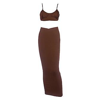 Slit Long Skirt Autumn Hot Style Pleated Camisole Wrap Hip Slit Long Skirt