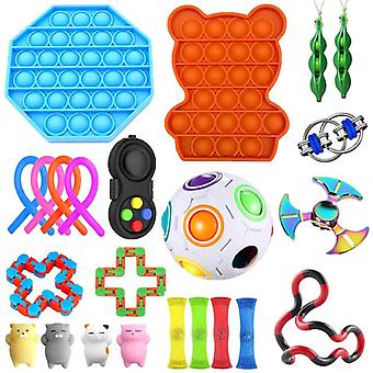 23 Упаковка Сенсорные игрушки Набор, Снимает стресс и беспокойство Непоседа Игрушка для детей Взрослые
