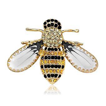 Schattige bee crystal broche pin accessoire Corsage gesp pinnen