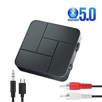 Bluetooth 5.0 Receiver Transmitter 3.5mm 3.5 Aux Jack Usb Dongle Stereo Wireless Audio Adapters With Mic For Car Tv Pc Headphone