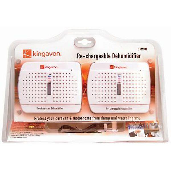 2 Dehumidifiers to protect your home car and caravan from damp, re-chargeable