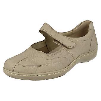 Ladies Waldlaufer Casual Mary Jane Style Flat Shoes 496302