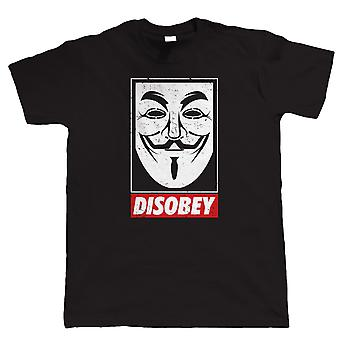 Anonymous Mask, Mens T Shirt - V for Vendetta Conspiracy Disobey