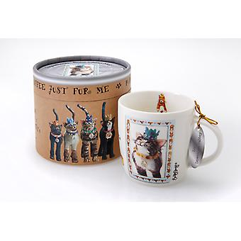Royal Furmily Pawtraits Lord Downtown Tabbey Cat Mug