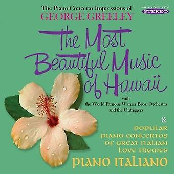 George Greeley - Most Beautiful Music of Hawaii / Piano Italiano [CD] USA import