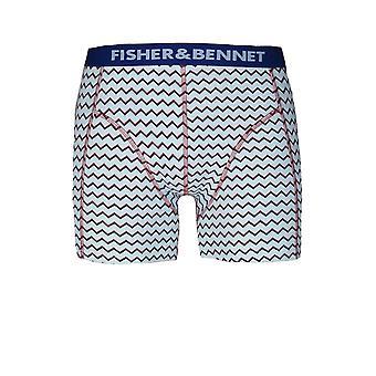 Fisher e Fisher Bennet & Bennet Mens três Pack multi cor Boxer Shorts