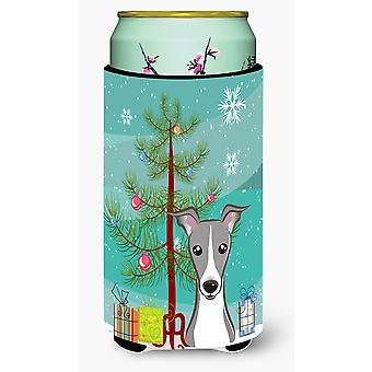 Weihnachtsbaum und italienisches Windspiel großer Junge Getränk Isolator Hugger