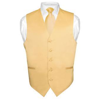 اللباس الصلبة سترة & ربطه عنق الرقبة مجموعة للرجال التعادل لرفع الدعوى أو سهرة