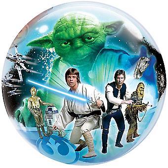 Star Wars Ballon Bubble 2 verschiedene Motiv Luke Skywalker Darth Vader circa 55cm Ballon