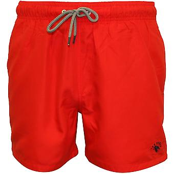 Ted Baker Classic Swim Shorts, Red With Navy Contrast