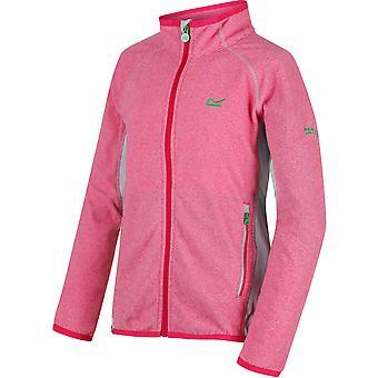 Regata garotos e garotas Pira Micro Fleece Zip bolso jaqueta estiramento