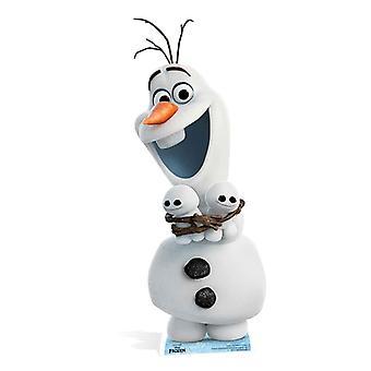 Olaf jäädytetystä pahvileikkauksesta