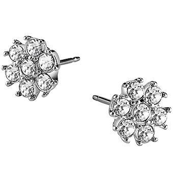 Guess ladies orecchini fiore in acciaio inox zirconi UBE21541